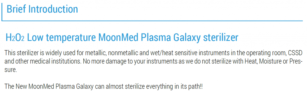 introduction plasma sterilizer